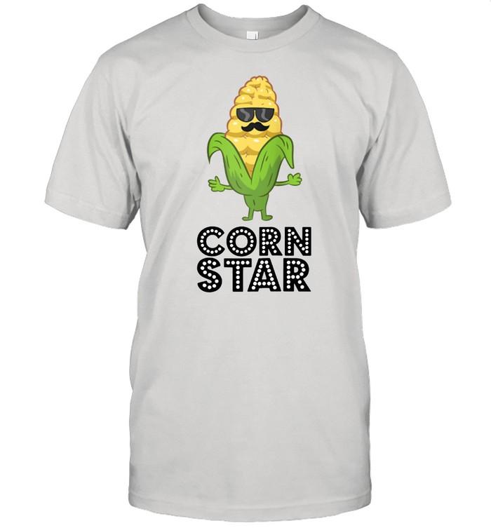 Corn Star With Sunglasses Love Corn shirt Classic Men's T-shirt