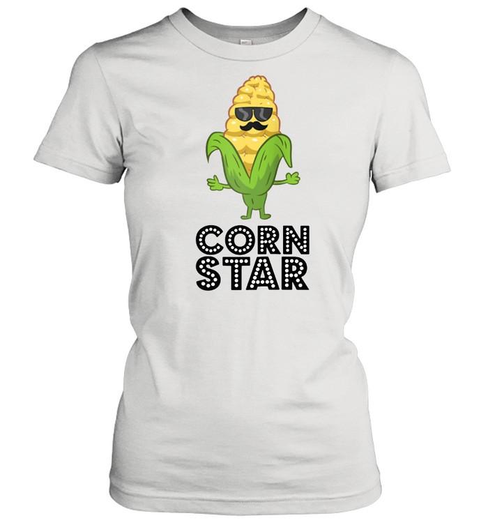 Corn Star With Sunglasses Love Corn shirt Classic Women's T-shirt