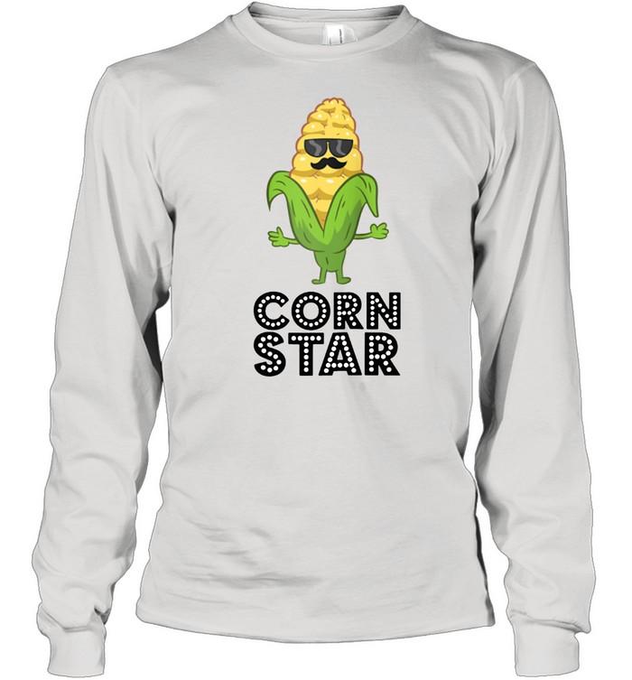 Corn Star With Sunglasses Love Corn shirt Long Sleeved T-shirt