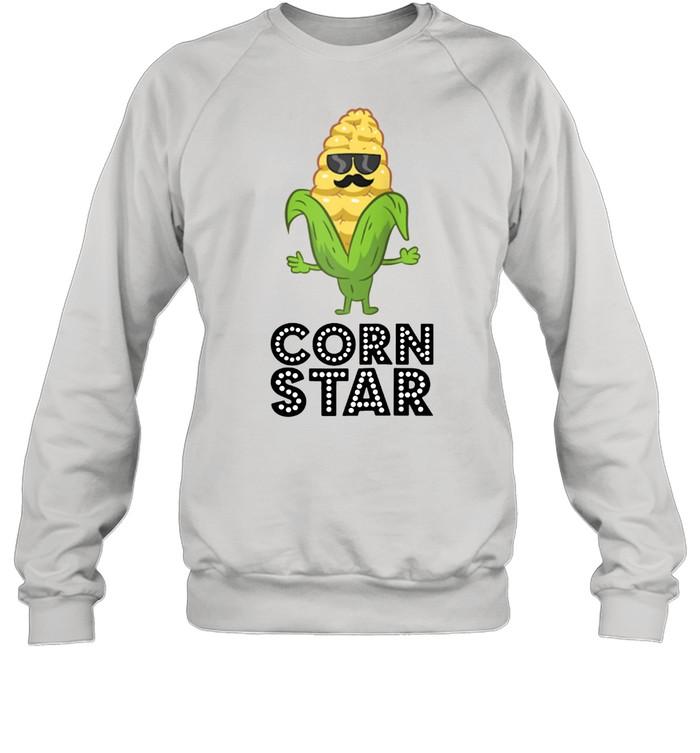 Corn Star With Sunglasses Love Corn shirt Unisex Sweatshirt