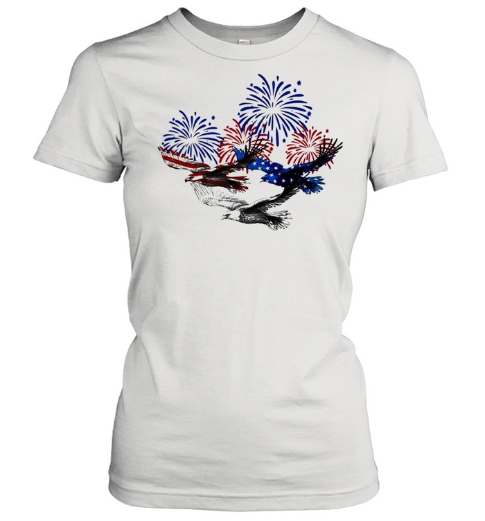 Eagle heart 4th of july shirt Classic Women's T-shirt