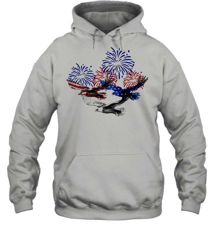 Eagle heart 4th of july shirt Unisex Hoodie