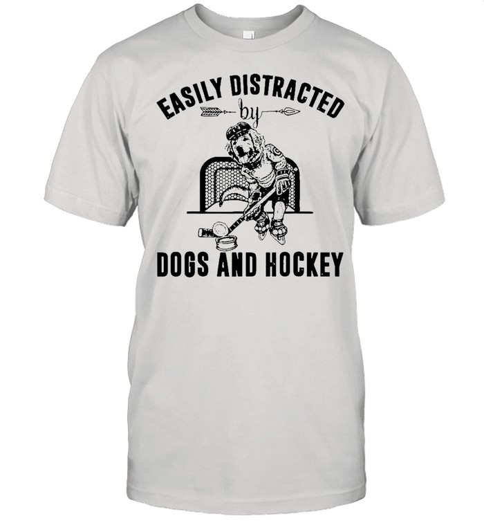 easily distracted dog and hockey shirt Classic Men's T-shirt