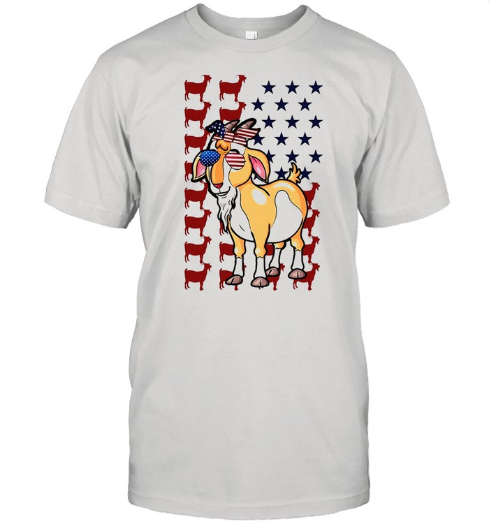 American Flag Goat Independence day Farmer T-shirt Classic Men's T-shirt