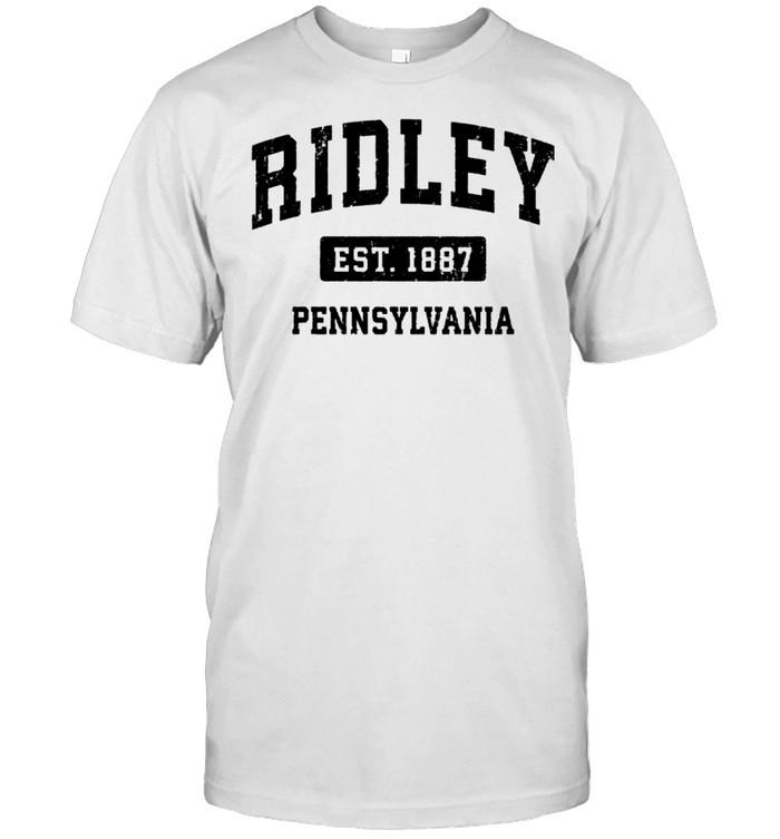 Ridley Pennsylvania PA Vintage Sports Design Black Design shirt Classic Men's T-shirt