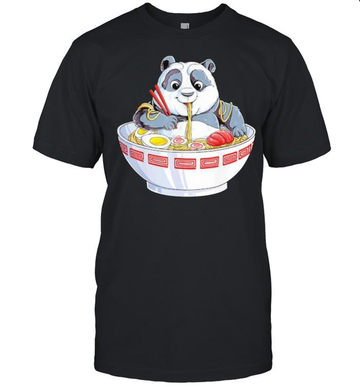 Panda eating noodle shirt Classic Men's T-shirt