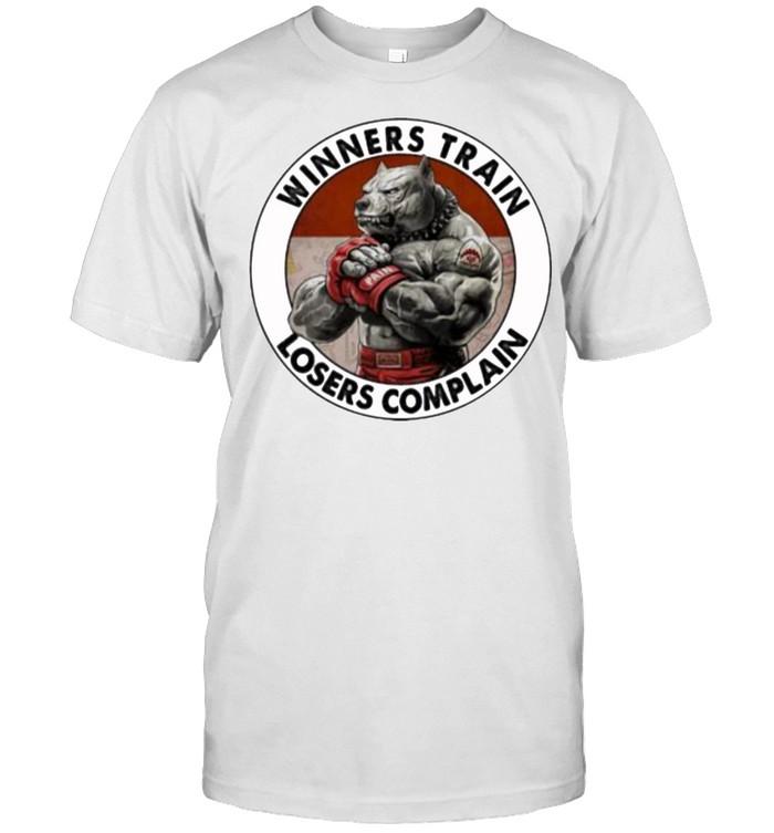 Winners train losers complain dog shirt Classic Men's T-shirt