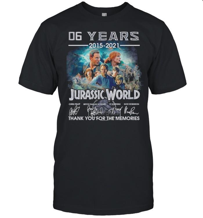 06 years 2015 2021 jurassic world thank you for the memories shirt Classic Men's T-shirt