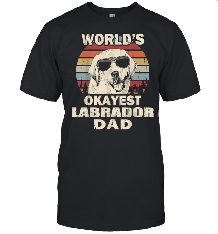 Mens World's Okayest Labrador Dad Vintage Retro shirt Classic Men's T-shirt