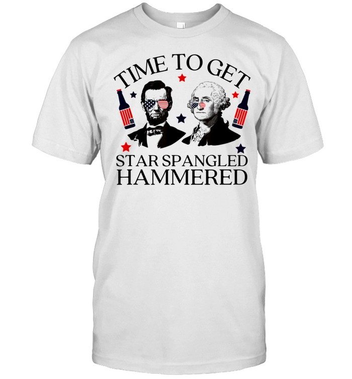 Time To Get Star Spangled Hammered 4th of July Presidents shirt Classic Men's T-shirt