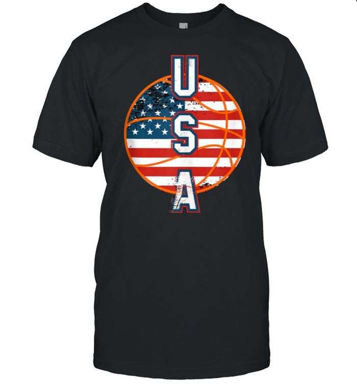 Basketball team flag USA T- Classic Men's T-shirt