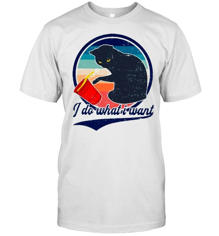 I do what I want cat shirt Classic Men's T-shirt
