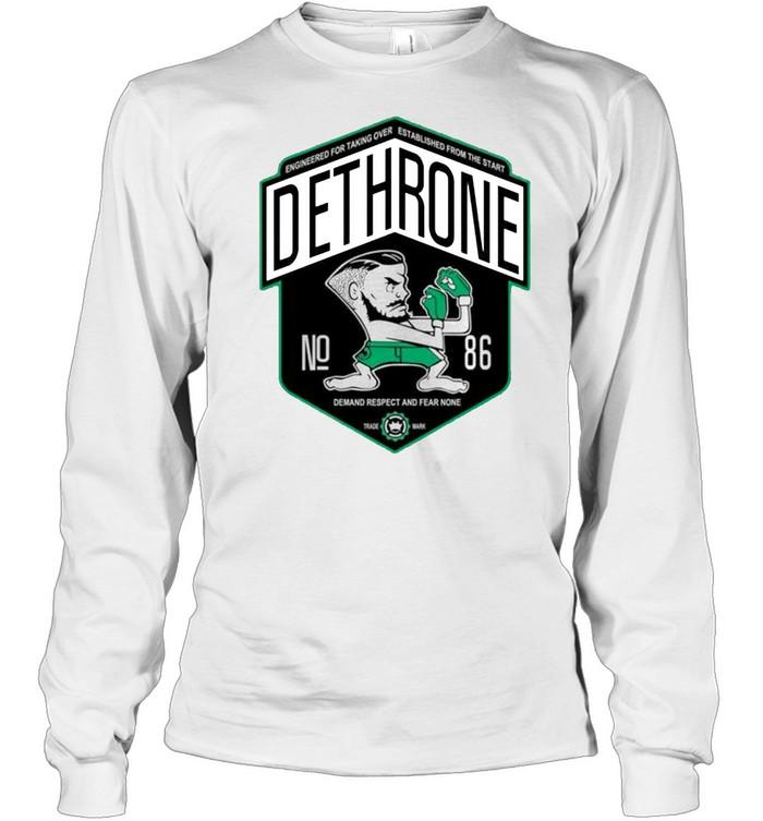 Dethrone conor Mcgregor shirt Long Sleeved T-shirt