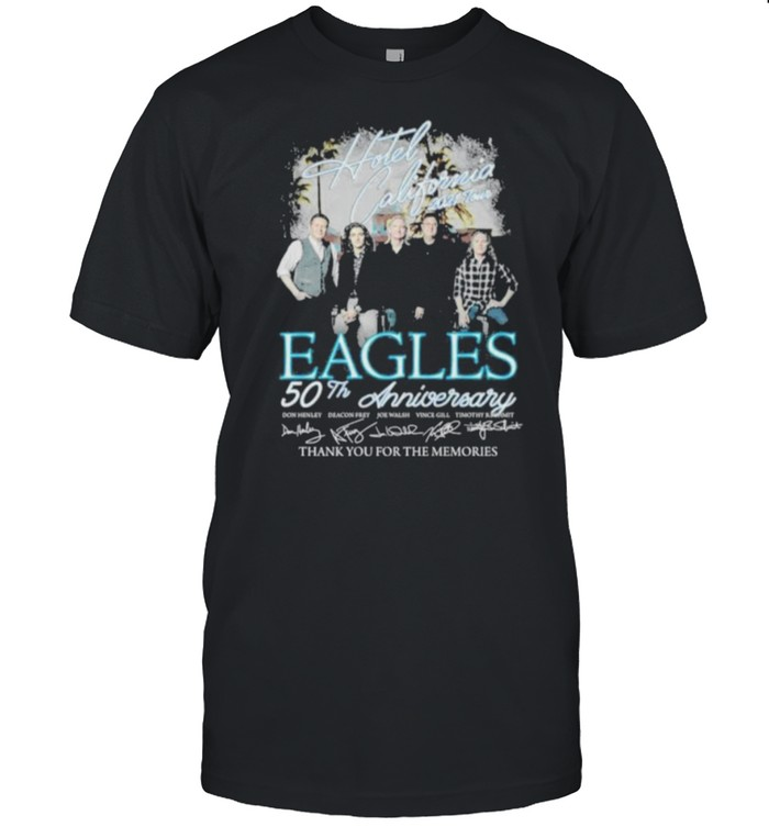 Hotel California 2021 Tour Eagles 50th Anniversary Thank You For The momories  Classic Men's T-shirt
