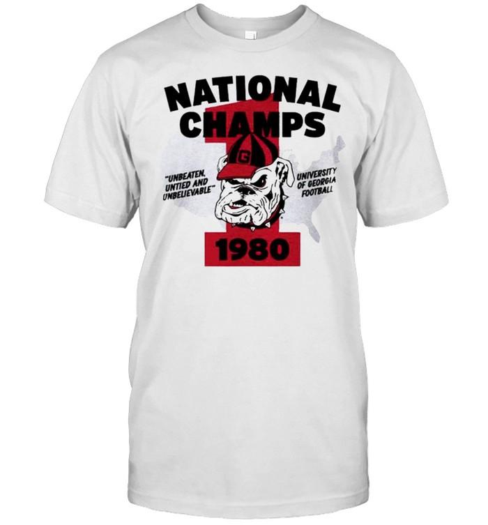 Georgia 1980 National Champs shirt Classic Men's T-shirt