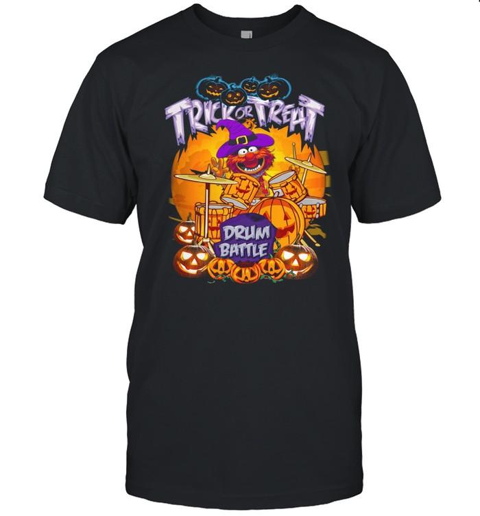 Animal Muppets trick or treat drum battle Halloween shirt Classic Men's T-shirt