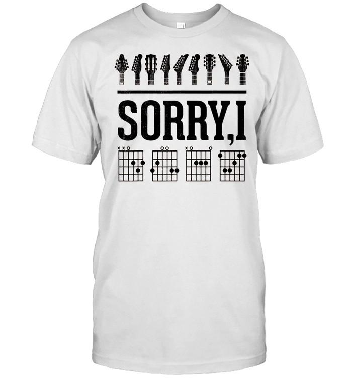 Sorry IDGAF Hidden Message Guitar Chords Music Note shirt Classic Men's T-shirt
