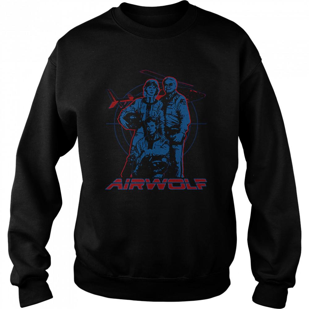 Cast Airwolf T- Unisex Sweatshirt