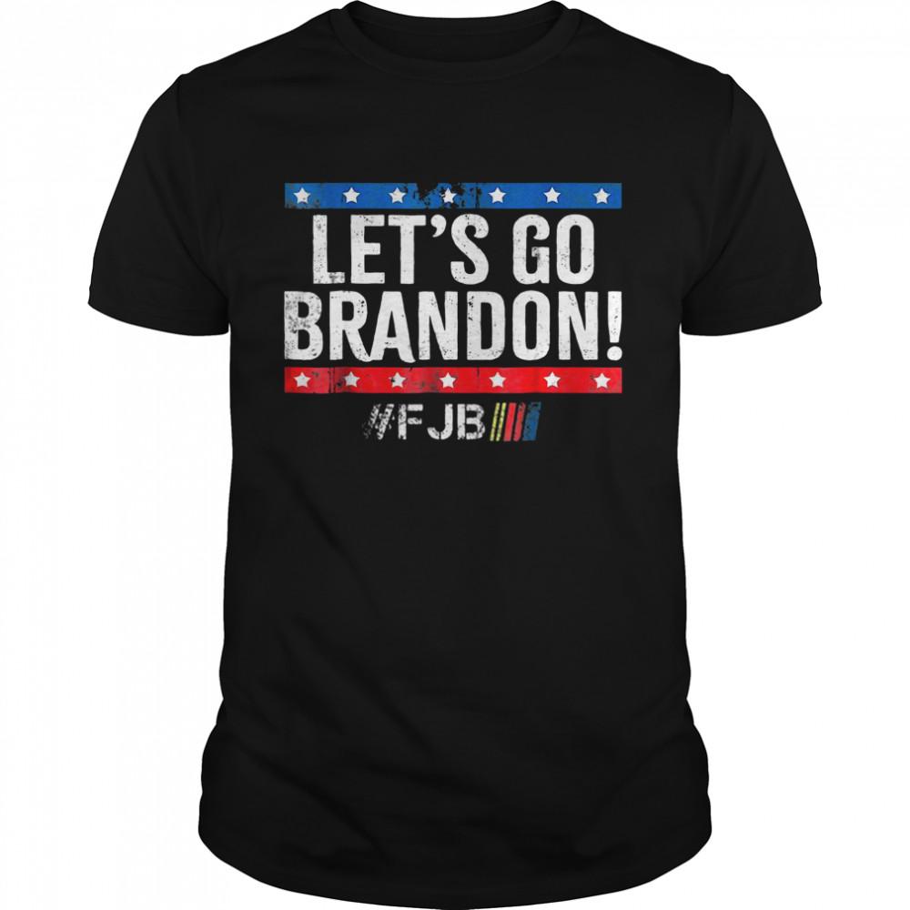 Let's Go Brandon, Joe Biden Chant, Impeach Biden Us Flag  Classic Men's T-shirt