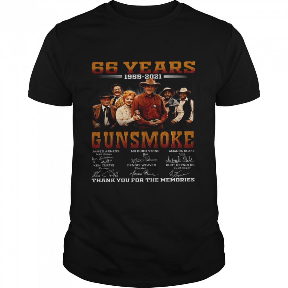 66 years 1956 2021 gunsmoke thank you for the memories shirt Classic Men's T-shirt