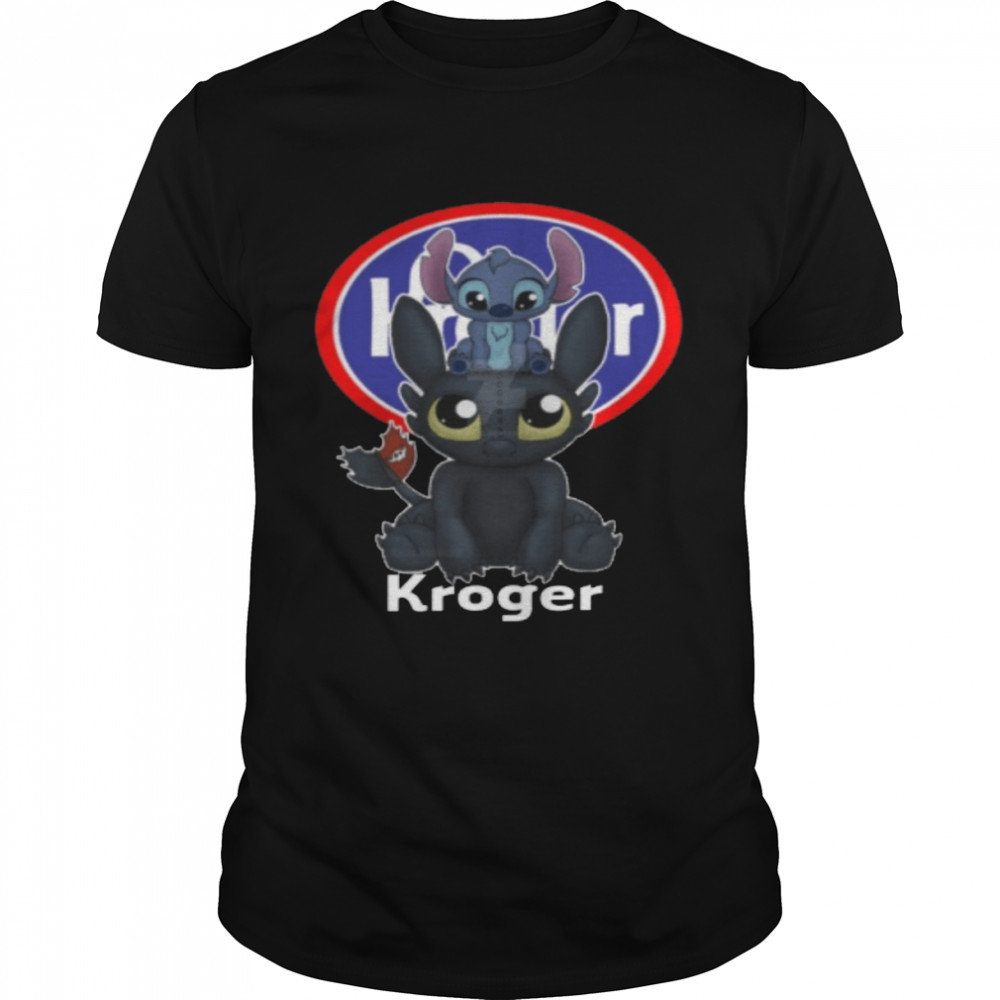 Stitch And Toothless Kroger shirt Classic Men's T-shirt
