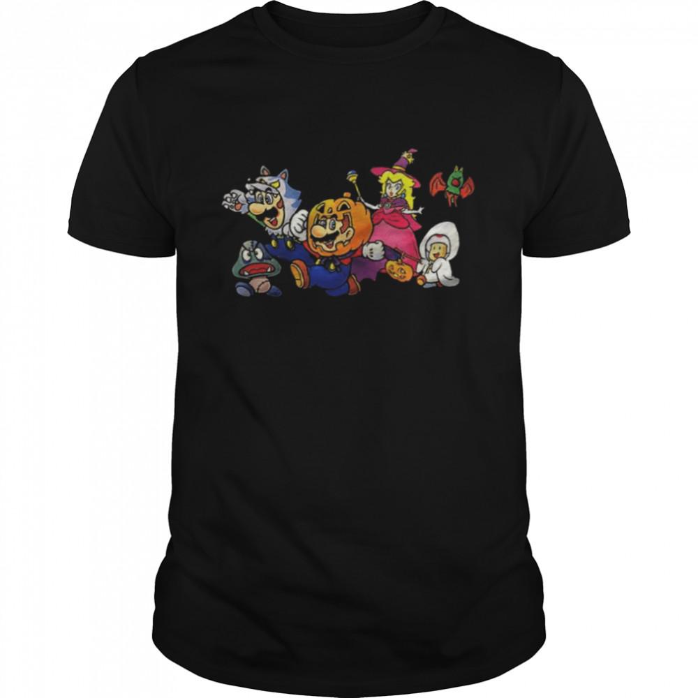 Video Game Art Tidbits New Super Mario Nintendo Ny Exclusive Halloween  Classic Men's T-shirt