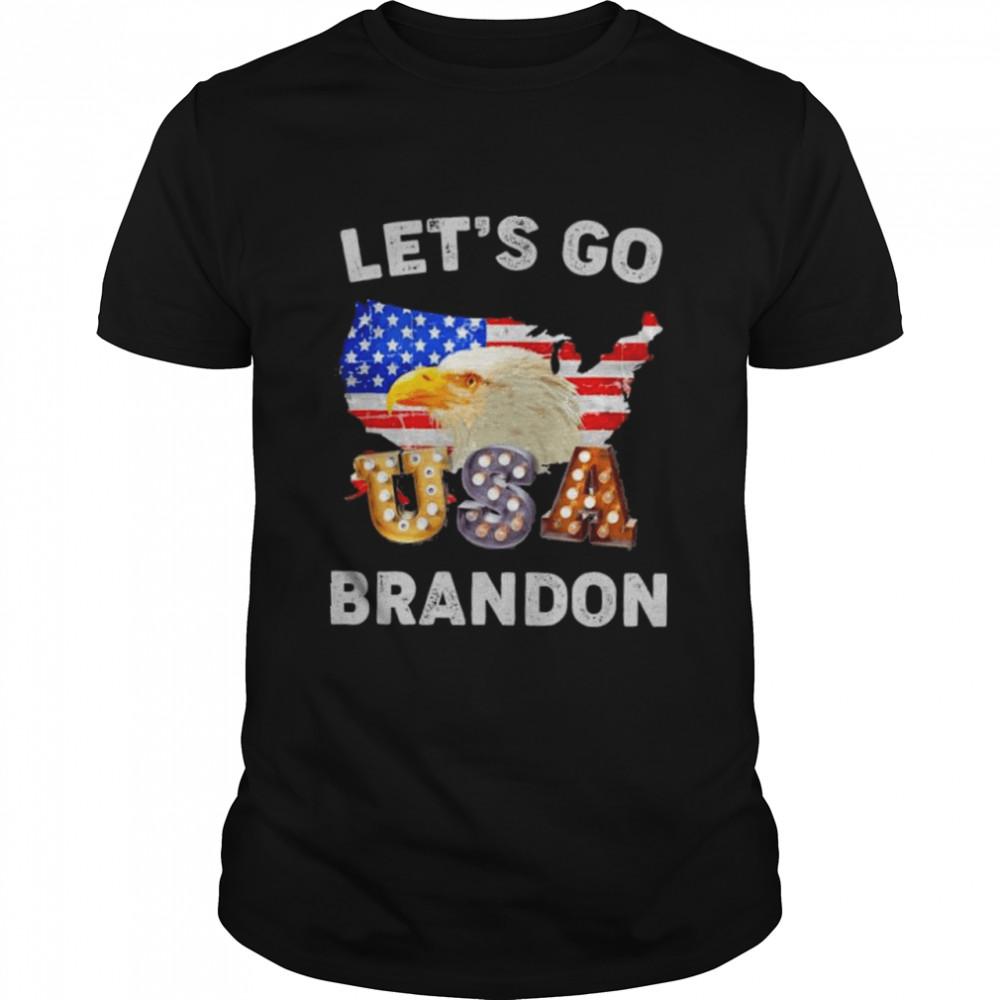 Lets Go Brandon Conservative Eagle US Flag shirt Classic Men's T-shirt