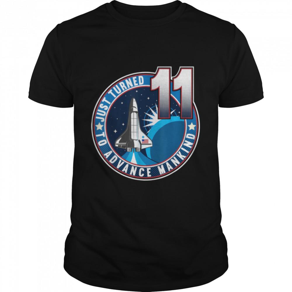 11th Birthday I To Advance Mankind I Kids Astronaut Costume T- B09JP7Z62K Classic Men's T-shirt