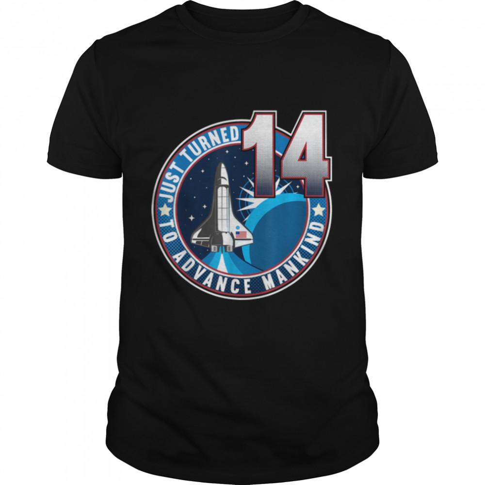 14th Birthday I To Advance Mankind I Kids Astronaut Costume T- B09JPB6SSH Classic Men's T-shirt