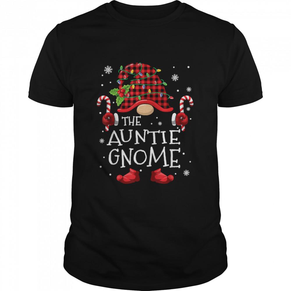 Auntie Gnome Buffalo Plaid Christmas Tree Family Xmas T- Classic Men's T-shirt
