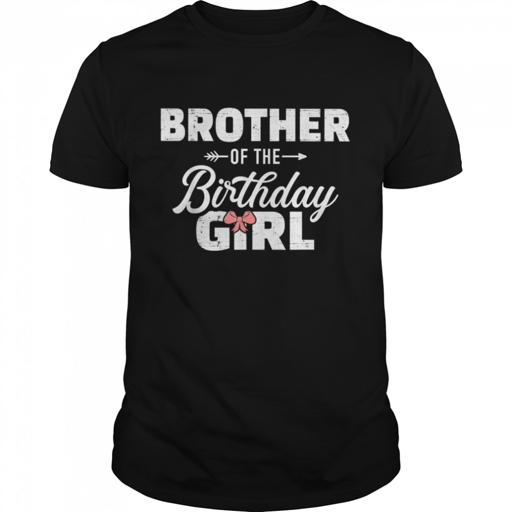 Brother of the birthday daughter girl matching family T- Classic Men's T-shirt