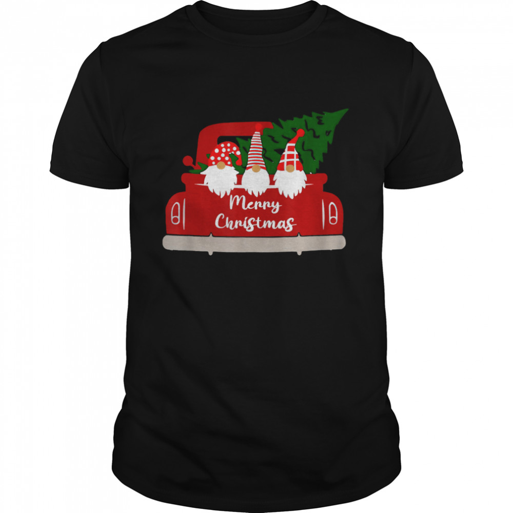 Christmas Gnome Red Truck Holiday Xmas 2021 Merry Christmas T- Classic Men's T-shirt