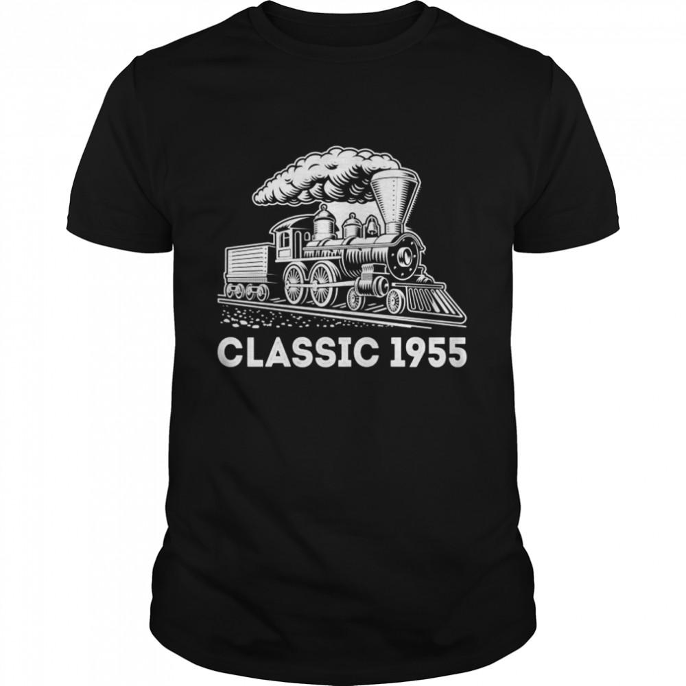 Classic 1955 Train Locomotive 67th Birthday   Classic Men's T-shirt