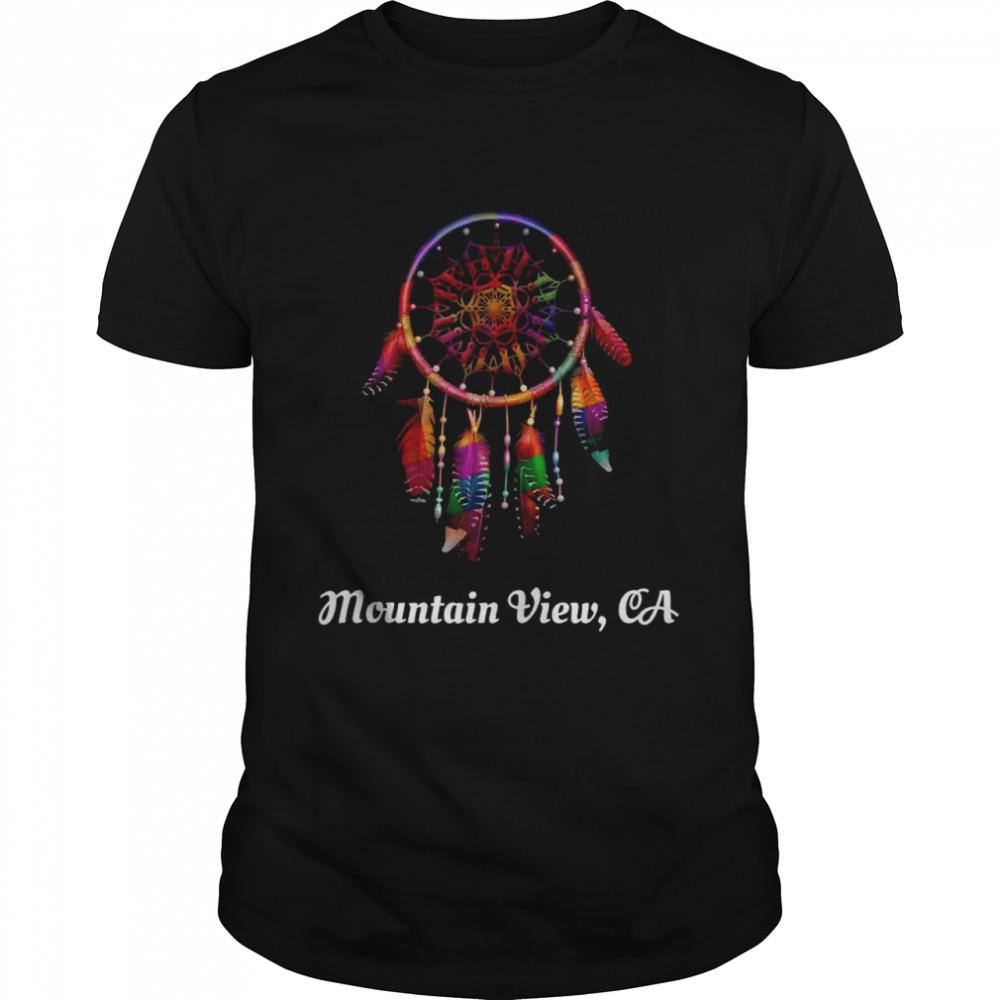 Dreamcatcher Feathers Native American Mountain View CA  Classic Men's T-shirt
