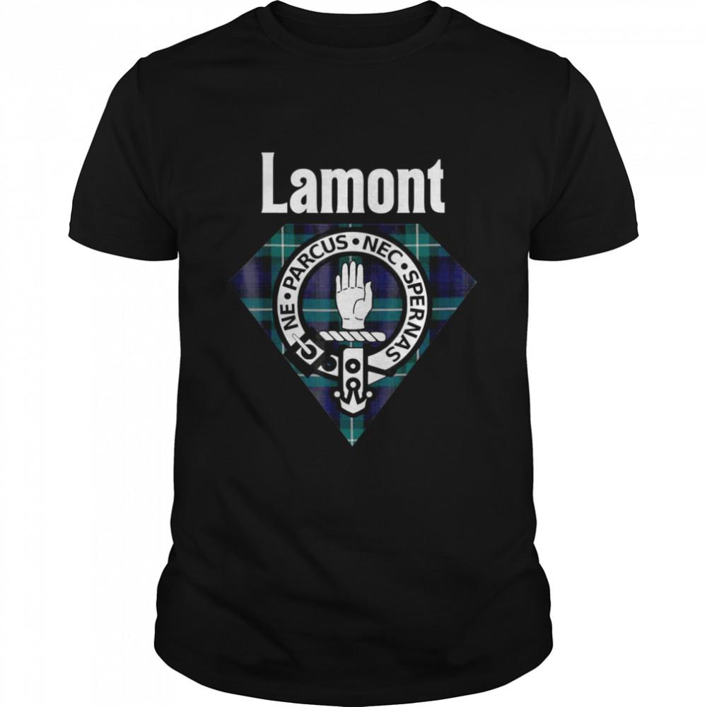 Lamont Clan Schottisches Wappen, Tartan  Classic Men's T-shirt