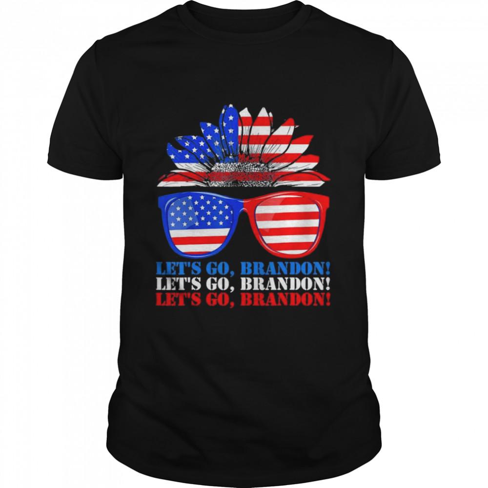 Lets Go Brandon American Sunflower Sunglasses shirt Classic Men's T-shirt