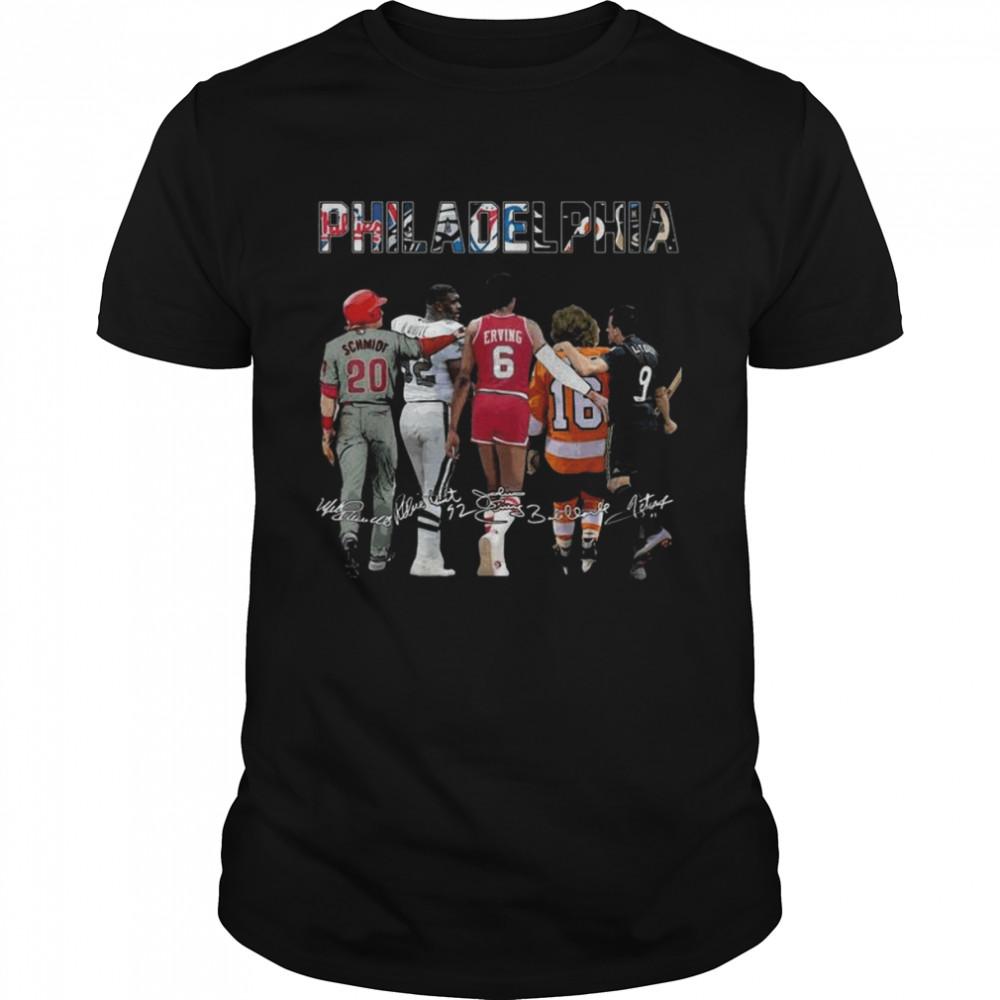 Philadelphia Philadelphia Eagles Philadelphia Flyers Philadelphia Union Signatures  Classic Men's T-shirt